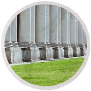 Roman Architecture Round Beach Towel