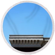 Roof Top Round Beach Towel