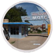 Route 66 - Blue Swallow Motel Round Beach Towel