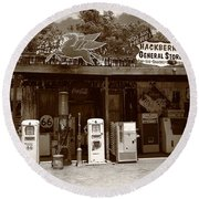 Route 66 - Hackberry General Store Round Beach Towel