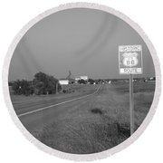 Route 66 - Oklahoma Round Beach Towel