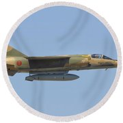 Royal Moroccan Air Force Mirage F1 Round Beach Towel