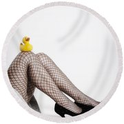 Rubber Duck Round Beach Towel