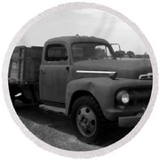 Rusty Ford Truck 2 Round Beach Towel