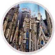Sagrada Familia - Gaudi Round Beach Towel