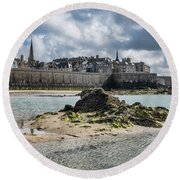 Saint Malo Round Beach Towel