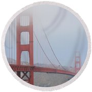 San Francisco - Golden Gate Bridge  Round Beach Towel