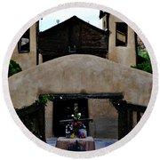 Santuario De Chimayo Round Beach Towel