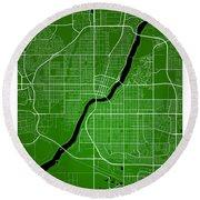 Saskatoon Street Map - Saskatoon Canada Road Map Art On Colored  Round Beach Towel