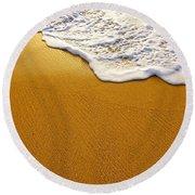 Sea Foam Round Beach Towel