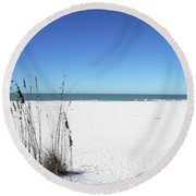 Seaoats On The Beach Round Beach Towel