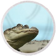 See You Later Alligator Round Beach Towel
