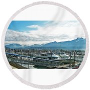 Seward Alaska Round Beach Towel