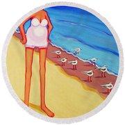 Shorebirds Of A Feather Round Beach Towel