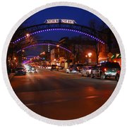 D8l-353 Short North Gallery Hop Photo Round Beach Towel