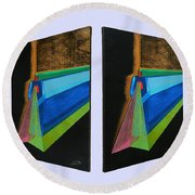 Shots Shifted - Hermite 5 Round Beach Towel