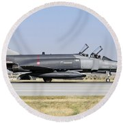 Side View Of A Turkish Air Force Round Beach Towel
