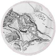 Siege Of Yorktown, 1781 Round Beach Towel