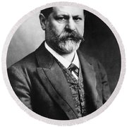 Sigmund Freud (1856-1939) Round Beach Towel