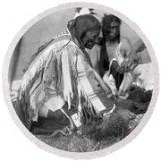 Sioux Medicine Man, C1907 Round Beach Towel