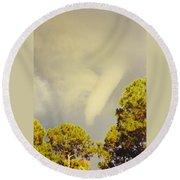 Skyscape - Tornado Formed Round Beach Towel