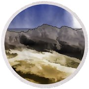 Slope Of Hills In The Scottish Highlands Round Beach Towel