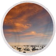 Small Stones Islands Round Beach Towel