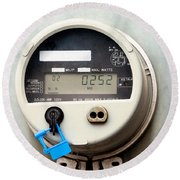 Smart Grid Residential Digital Power Supply Meter Round Beach Towel