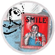 Smile Round Beach Towel
