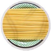 Spaghetti  Round Beach Towel