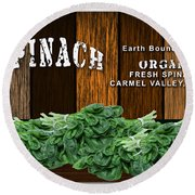 Spinach Patch Round Beach Towel