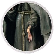 St Francis Of Assisi Round Beach Towel
