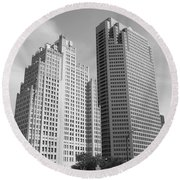 St. Louis Skyscrapers Round Beach Towel