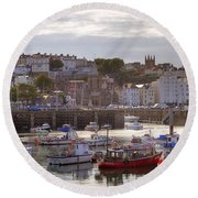 St Peter Port - Guernsey Round Beach Towel