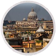 St Peters Basilica Round Beach Towel