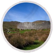 Staigue Fort At 2,500 Years Old One Round Beach Towel