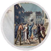 Stamp Act Riot, 1765 Round Beach Towel