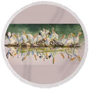 Standing Room Only Round Beach Towel