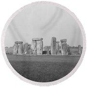 Stonehenge Round Beach Towel by Anonymous