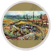Stroubles Creek Round Beach Towel