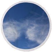 Summer Clouds Round Beach Towel