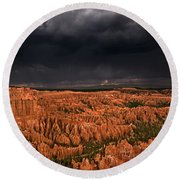 Summer Thunderstorm Bryce Canyon National Park Utah Round Beach Towel