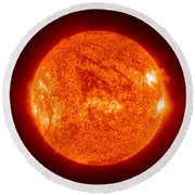 Sun Round Beach Towel by Science Source