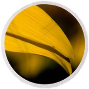 Sunflower Petals Round Beach Towel