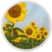 Sunflower Series Round Beach Towel