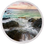 Sunrise Surge Round Beach Towel
