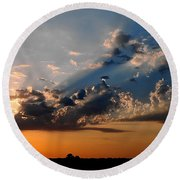 Sunset In Seaford Round Beach Towel
