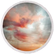 Sunset Sky Round Beach Towel by Les Cunliffe