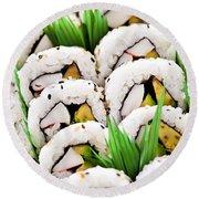 Sushi Platter Round Beach Towel