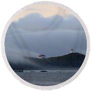 Swallowtail Lighthouse... Round Beach Towel